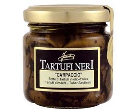 Carpaccio Fette Di Tartufi Neri (tuber Aestivum) In Ol.oliva 05091 Inaudi 80 Grammi
