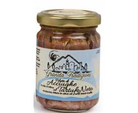 Filetti Di Acciughe In Olio Di Oliva Al Tartufo Nero (anchovies Fillets In Olive Oil With Black Truffle)  A365 Granda Tradizioni 156 Grammi