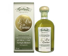 Oro In Cucina: Olio Extrav.d'oliva Con Tartufo Bianco In Fette (tuber Magnatum Pico) Tl10ob002 Tartuflanghe 250 Ml
