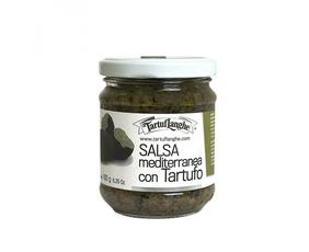 Salsa Di Olive E Tartufo - Salsa Mediterranea Con Tartufo (tuber Aestivum Vitt.) Tl02an002 Tartuflanghe 180 Grammi