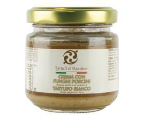 Crema Con Funghi Porcini E Tartufo Bianco (tuber Magnatum Pico) Dogliani Cptb080  80 Grammi